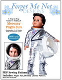 Doll Clothes Pattern Astronaut Flight suit and helmet