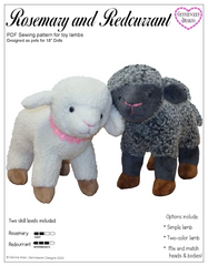 Genniewren Lamb Sewing Pattern For 18-Inch Dolls