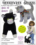 Genniewren Soft Toy Kitten Pattern