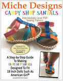 Candy Shop Sandals Pattern for 18-inch dolls