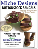 Buttonstock Sandals Pattern for 18-inch Dolls