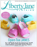 Open toe Janes Sandals Pattern For 18-inch doll shoes