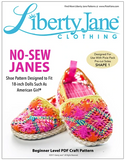 No-Sew Janes Shoe Pattern For 18-inch dolls