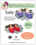 Sally Crochet Mary Janes Pattern for 14.5-inch dolls