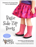 Basic Side-Zip Boots for 14.5-inch dolls