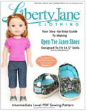 Open-Toe Janes Pattern for 14.5-inch doll shoes