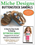 Buttonstocks Sandals Pattern for 14.5-inch dolls