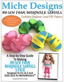 No-Sew Boardwalk Sandal Pattern For 14.5-inch dolls