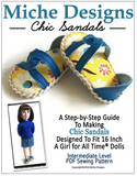 Chic Sandals for 16-inch dolls such as A Girl For All Time®