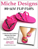 No-Sew FLip Flops for 18-inch dolls