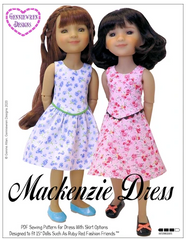 Mackenzie Dress Ruby Red Fashion Friends™ Pattern