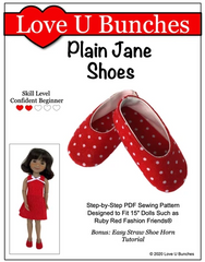 Plain Janes Shoe Pattern For Ruby Red Fashion Friends™