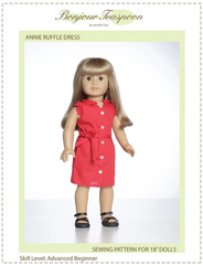 PDF Sewing Pattern Annie Ruffle Dress For18-inch dolls