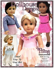 Prima Dance wear PDF Sewing Pattern For 18-inch dolls
