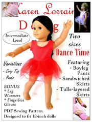 Dance Time Ballet Costume PDF Sewing Pattern For 18-inch Dolls