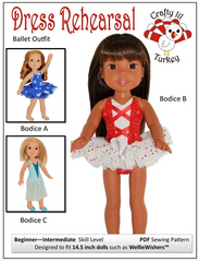 Dress Rehearsal PDF Doll Clothes Sewing Pattern For 14.5-inch dolls