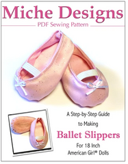 Ballet Slippers PDF Sewing Pattern For 18-inch dolls