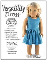 Versatility Dress PDF Sewing Pattern For 18-inch dolls