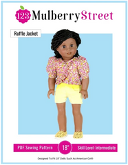 Ruffle Jacket Sewing Pattern For 18-inch dolls