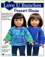 Peasant Blouse PDF Sewing Pattern For 18-inch dolls