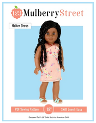 Halter Dress and top For 18-inch dolls
