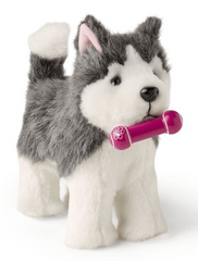 Plush husky Puppy Pet For 18-inch dolls
