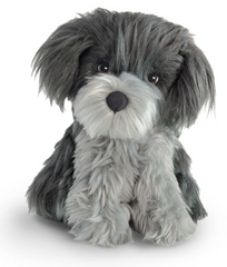 Plush Pet Gray Puppy For 18-inch dolls
