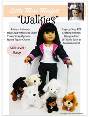 Dog Leash Pattern For 18-inch doll pets