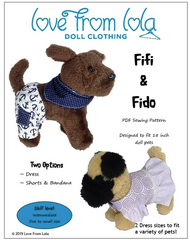 Sewing Pattern for 18-inch Doll Pet Clothing