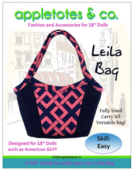 Leila Bag PDF Hand Bag Sewing Pattern For 18-inch dolls