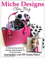 Clem Designer Tote Bag PDF Sewing Pattern For 18-inch dolls