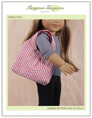 Emma tote PDF Sewing Pattern for 18-inch dolls