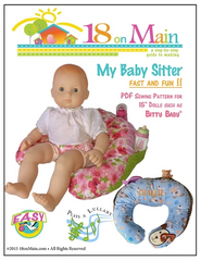 My Baby sitter Circle Pillow Sewing Pattern For 15-inch baby dolls