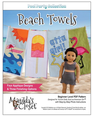 Beach Towels PDF Pattern For 18-Inch Dolls