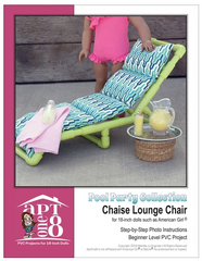 Chaise Lounge Chair PVC Pattern For 18-inch Dolls