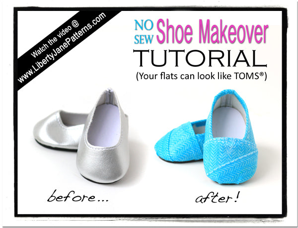 0a4cb9d705d9d How To Make Doll Shoes Look Like TOMS | Pixie Faire