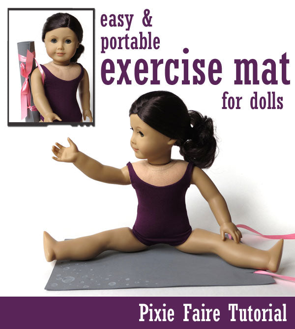 Doll-sized Workout Exercise Mat
