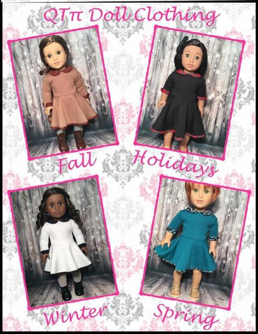 "Wear Anywhere Dress 18"" Doll Clothes Pattern"