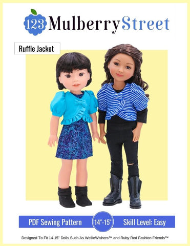 "Ruffle Jacket 14.5""-15"" Doll Clothes Pattern"