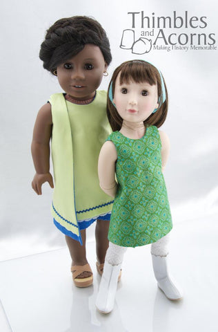 "1960s 1, 2, 3 Wrap Dress 16"" and 18"" Doll Clothes"