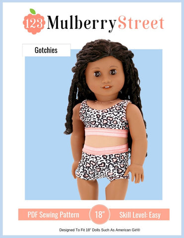 "123 Mulberry Street 18 Inch Modern Gotchies 18"" Doll Clothes Pattern Pixie Faire"