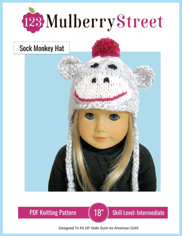 123 Mulberry Street Knitting Sock Monkey Hat Knitting Pattern Pixie Faire