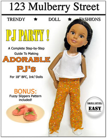 PJ Party Pattern for BFC, Ink. Dolls