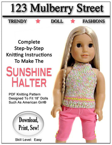Sunshine Halter Knitting Pattern
