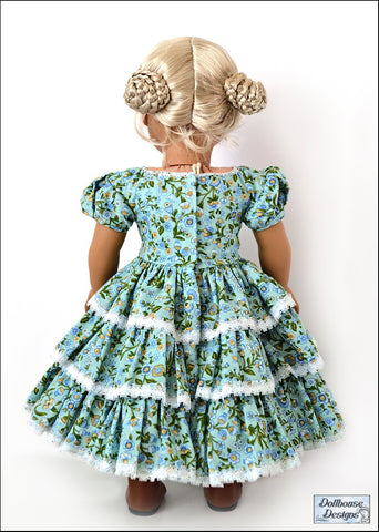 "1850s Promenade 18"" Doll Clothes Pattern"