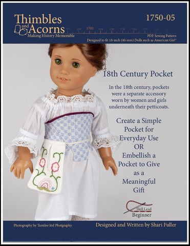 "18th Century Pocket 18"" Doll Clothes Pattern"
