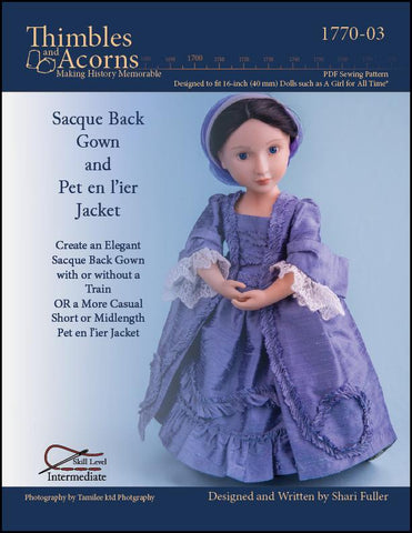 Sacque Back Gown and Pet en l'ier Jacket For AGAT Dolls