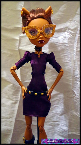 Clown Chic Sheath Dress and Glasses Pattern for 17 inch Monster High Dolls