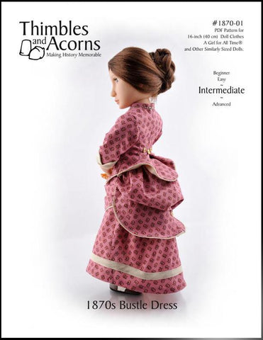 1870's Bustle Dress Pattern For AGAT Dolls