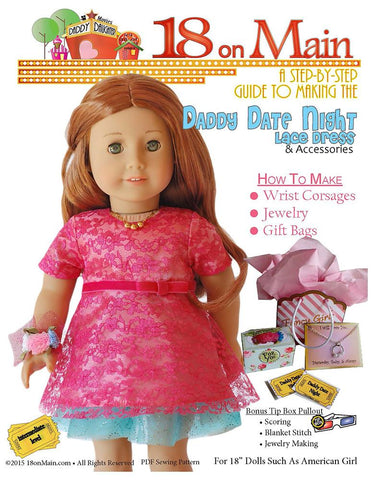 "18 On Main 18 Inch Modern Daddy Date Night 18"" Doll Clothes Pattern Pixie Faire"